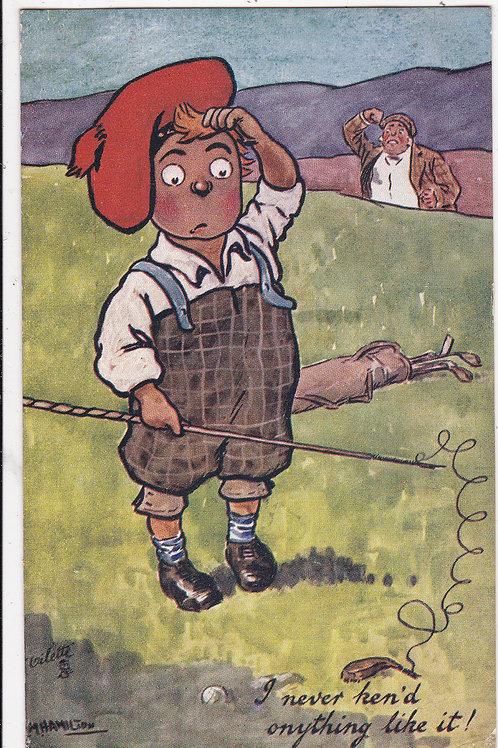 "Comic Golf PC ""Our Caddie"" Ref 1243 C.1908"