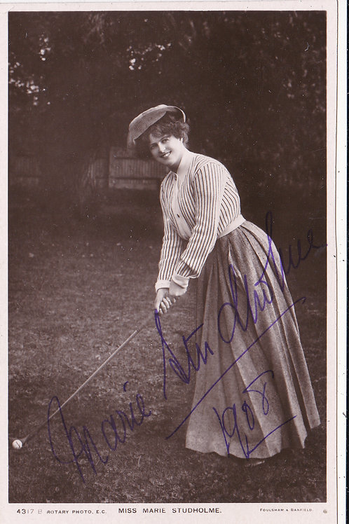 Golf/Art Miss Marie Studholme Signed C.1908 Ref.187