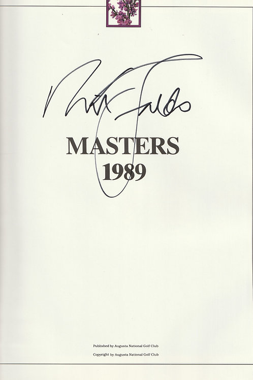 1989 Nick Faldo Signed Masters Annual Ref.MM 577