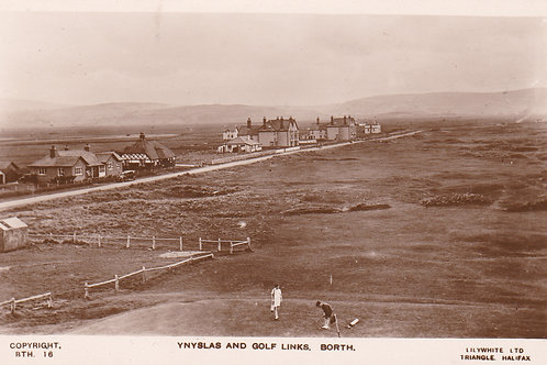 Ynyslas & the Golf Links, Borth.Ref 777. C.1920s?
