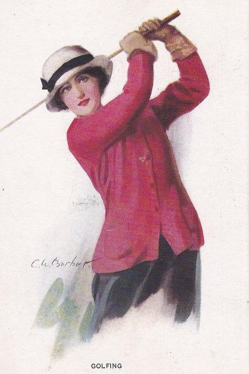 Golf Art/Fashion PC C.Pre 1914 Ref.1071a