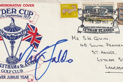 1977 Ryder Cup Comm.Cover Signed Ref.FDC/Comm 059