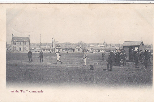 Carnoustie Golf Links,At the Tee  Ref.614 C.1904