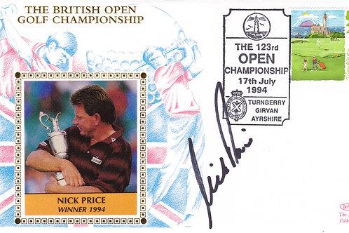 British Open SIG. Silk 1st Day Cover.Ref 22 C.1994