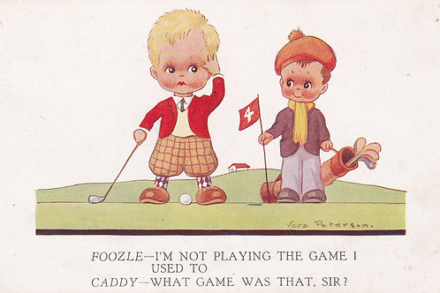 Comic Golf (Childrens) V Paterson. Ref 843 C.1934