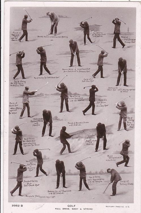 James Braid GOLF. Full Drive,Shot &.Ref 691.C.1908