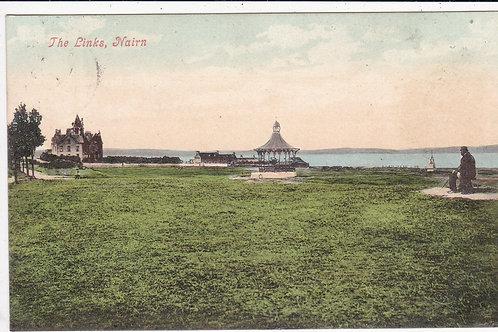 Nairn Golf Links & Bandstand Ref.206 C.1906