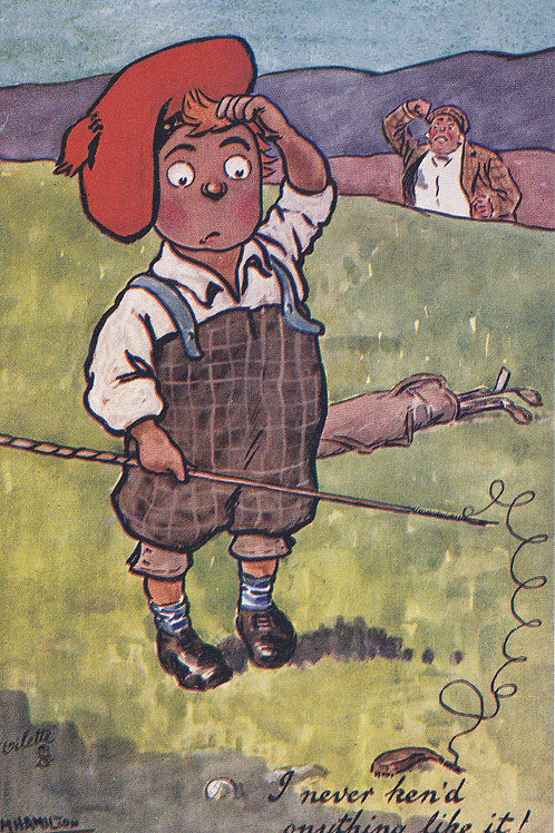 "Comic Golf PC ""Our Caddie"" Ref.1148 C.1908-10"