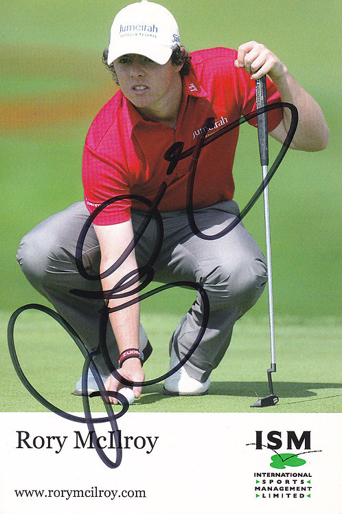 Rory McIlroy Signed Trade Card Ref.252