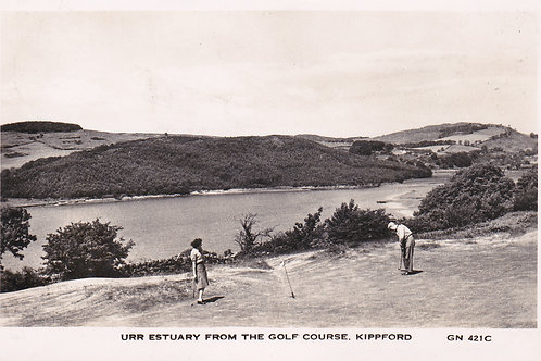 Kippford Golf Course & Urr Estuary.Ref 089. C.1951