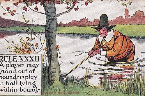 Chas.Chrombie Comic Golf Ref.876 C.1910