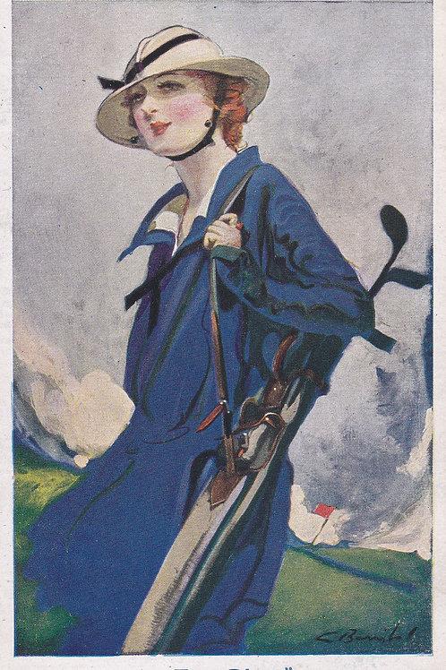 Golf Art/Fashion PC C.1910-1918 Ref.2135a