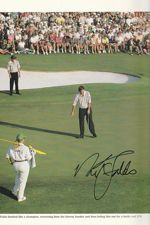 1996 Nick Faldo Signed Masters Annual Ref.MM.502