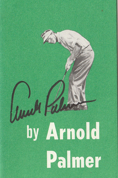 Arnold Palmer SIGNED Set of 6 Booklets Ref. Eph. 211 C.1964