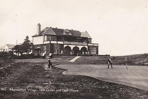 Hunstanton  Golf House/18th Green.Ref.029.C.1915-30