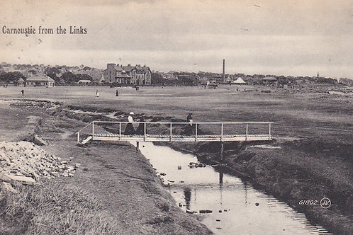 Carnoustie,Links & Barry Burn.Ref 087.  C.1910