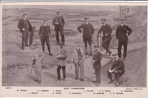 Golf Champions Braid,Vardon etc.C.1908 Ref.1620