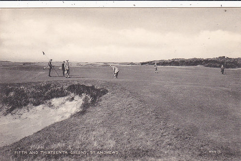 St Andrews.5th & 13th Greens Ref.645 C.1925