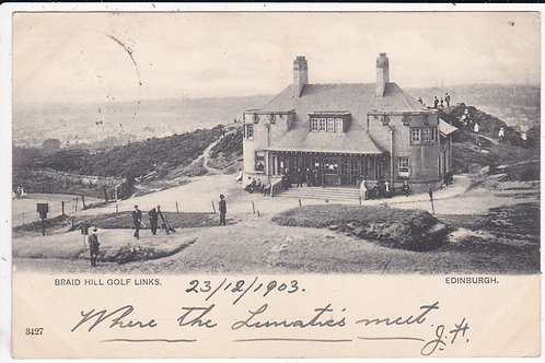 Braid Hills Golf Club House Ref.066 C.1903