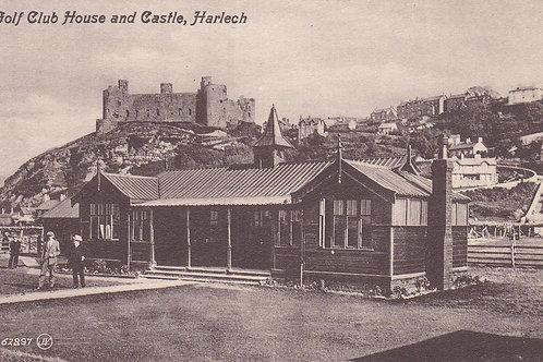 Harlech Golf Pavilion & Castle.Ref 724. C.1900-09