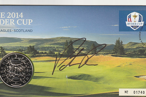 Ryder Cup 2014 Patrick Reed Signed Comm.Cover Ref.RC.125
