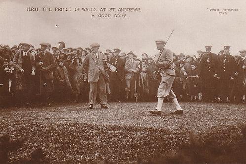 H.R.H. Prince of Wales & Sandy Herd Ref.454 C.1922