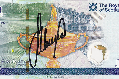 Ryder Cup 2014 Lee Westwood Signed £5 Note