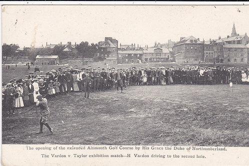 Alnmouth.Braid v Taylor Match.  September 1905 Ref.1538
