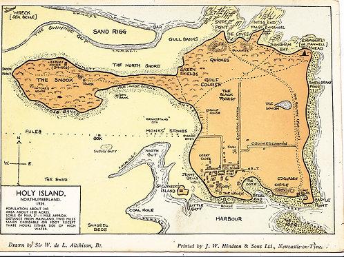 Holy Island.Jas.Braid Holy Island Floor Map C. Ref.1821 C.1934