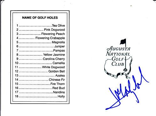 Jose Maria Olazabal SIGNED Masters Card