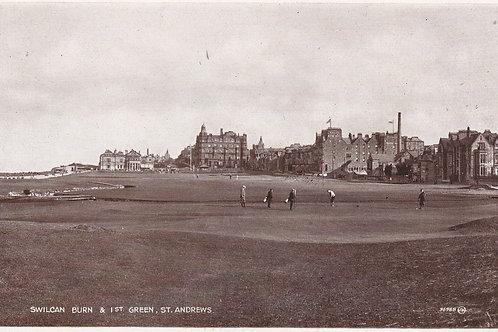St.Andrews 1st Green /Swilcan Burn Ref 008 C.1920s