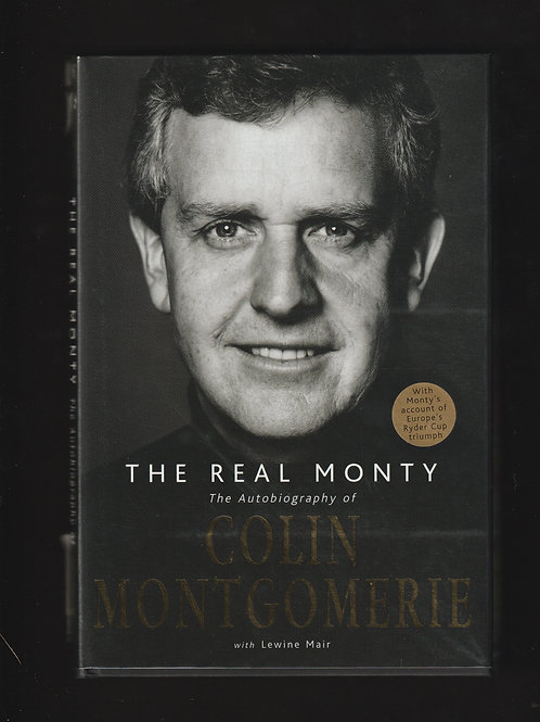 Colin Montgomerie Signed card. The Real Monty Ref.GB. 014