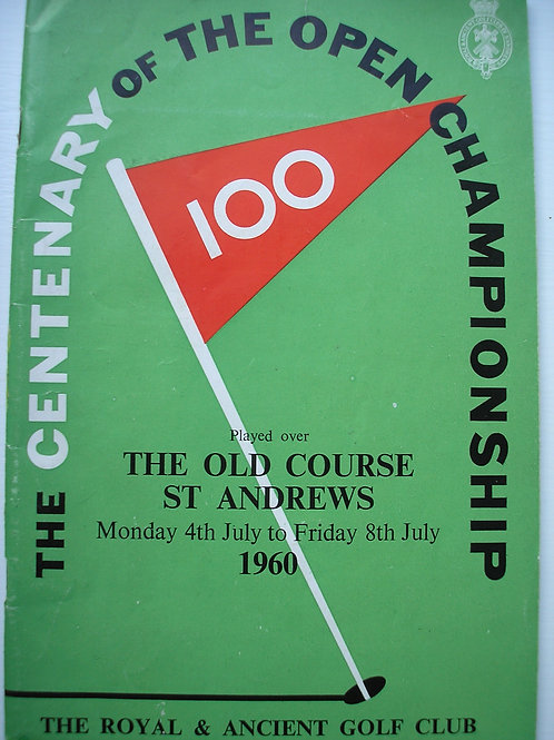 1960 British Open Golf Programme SIGNED Ref.122
