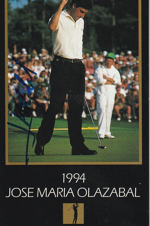 Masters Grand Slam card Signed by J.M.Olazabal Ref.455