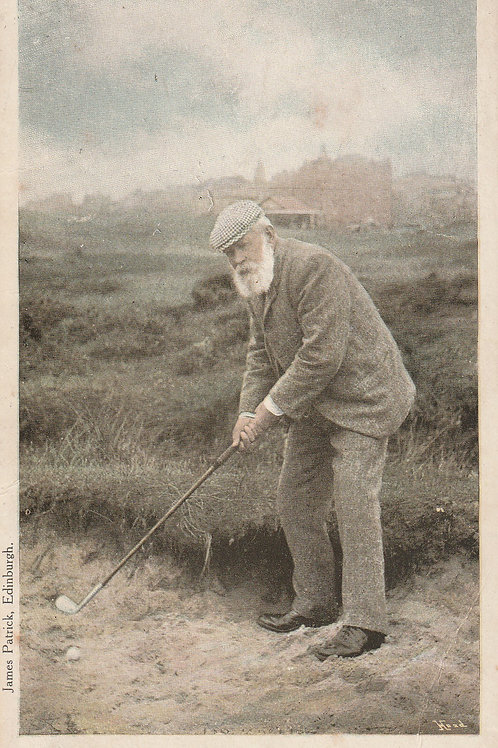 Tom Morris at St.Andrews by James Patrick Ref.667a C.1905