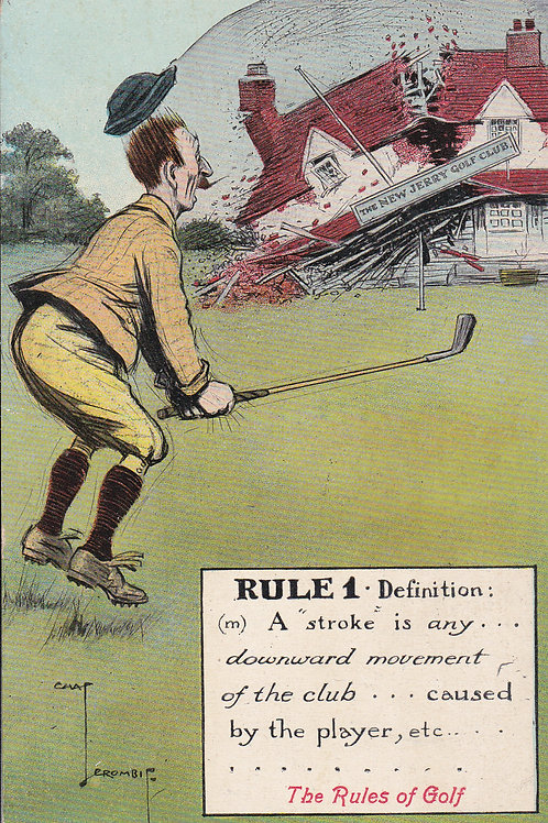 Chas.Crombie/ Valentine Comic Golf PC Ref.889 C.1905-08