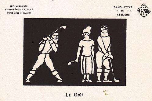 Silhouettes Le Golf Ref.2189a C.Ea 1900s
