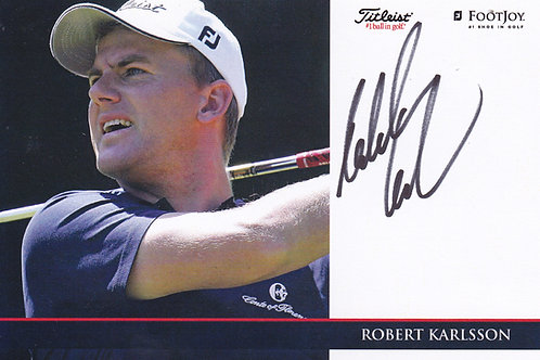 Robert Karlsson Signed Trade Card Ref.311