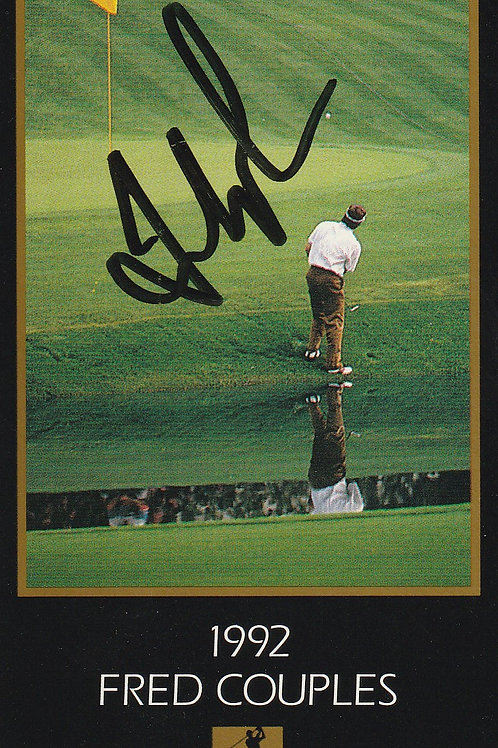 Masters Grand Slam card Signed by Fred.Couples Ref.457