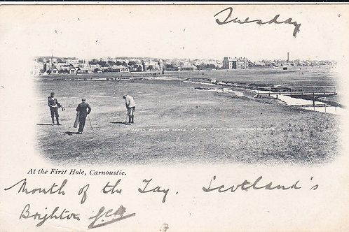 Carnoustie.At the 1st Hole Ref.482 C.1902