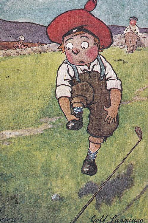 "Comic Golf PC ""Our Caddy"" Ref.1174a C.1908"