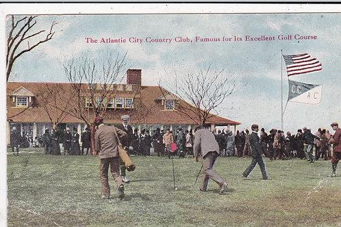 Atlantic City.Harry Vardon Golf Postcard C.1903-05