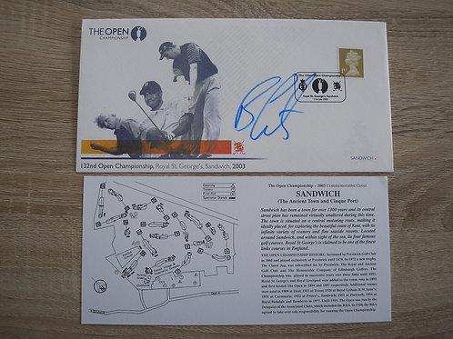 British Open Sandwich 2003 Signed FDC Ref.080