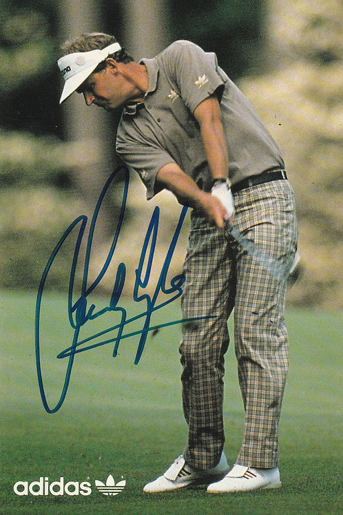 Sandy Lyle, British Open & Masters Signed Adidas PC Ref.387a C.1988