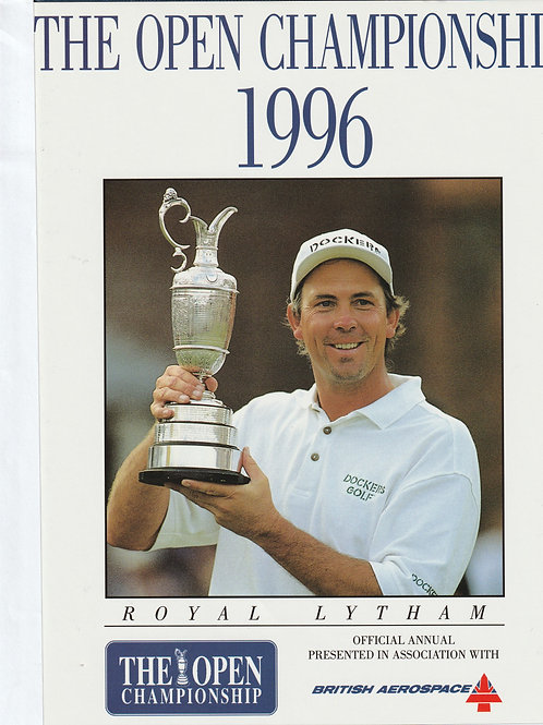 Signed British Open Golf Championship Annual Ref.301 St.Annes