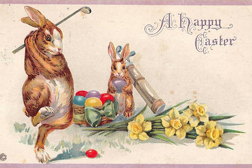 Easter Golf P/card Ref.3178a C.1921