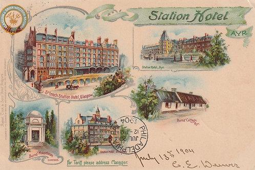 Glasgow & South Western R/way P.C. Ref.2561a C.1904