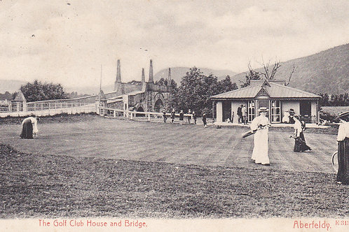 Aberfeldy Golf House & 9th Green Ref.1464 C.pre 1906
