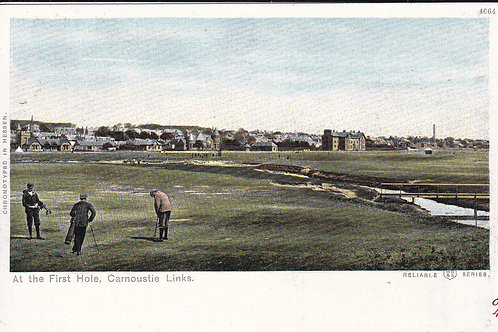 Carnoustie at the 1st Hole C.1904 Ref.1755