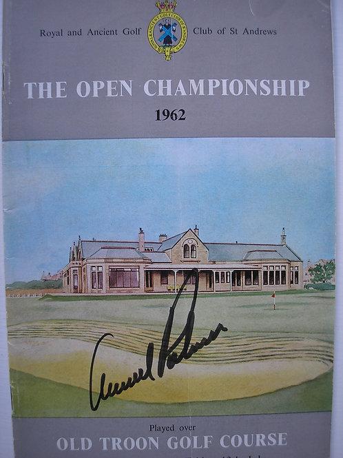 1962 British Open Golf Programme SIGNED Ref.41